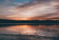 Sonnenuntergang auf Staryi Saltiv Stockfotos