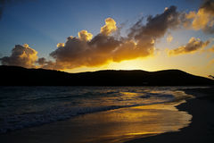 Sonnenuntergang auf Strand Stockbilder