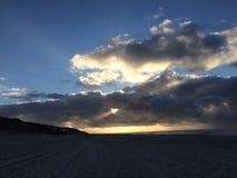 Sonnenuntergang auf Sylt Lizenzfreies Stockfoto