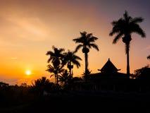 Sonnenuntergang auf Tempel Stockfotos
