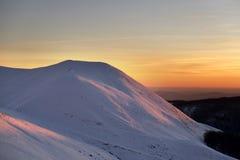 Sonnenuntergang auf Terminillo-Berg lizenzfreies stockbild