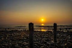 Sonnenuntergang auf Tropeninsel in Thailand Stockfoto