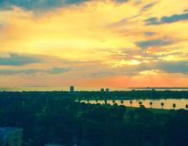 Sonnenuntergang in Australien Lizenzfreie Stockfotos