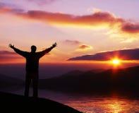 Sonnenuntergang background25 Stockfotografie