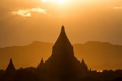 Sonnenuntergang in Bagan Stockfoto