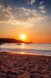 Sonnenuntergang in Bahia Concha Lizenzfreie Stockbilder