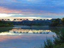 Sonnenuntergang-Bahnen Stockbild