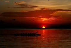 Sonnenuntergang in Baywalk Lizenzfreie Stockfotografie