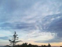 Sonnenuntergang bei Adria sehen Lizenzfreies Stockfoto