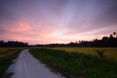 Sonnenuntergang bei Bahau Lizenzfreie Stockbilder