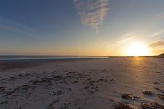Sonnenuntergang bei Baleshare Stockfotografie
