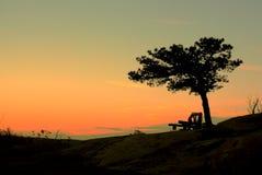 Sonnenuntergang bei Bear Mountain Lizenzfreie Stockfotos