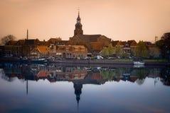 Sonnenuntergang bei Blokzijl, NL lizenzfreie stockbilder