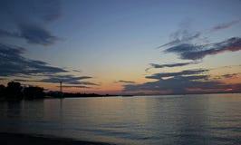 Sonnenuntergang bei Bregenz, Österreich Lizenzfreies Stockfoto