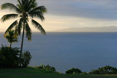 Sonnenuntergang bei Fidschi lizenzfreie stockbilder