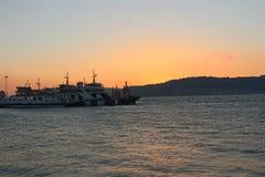 Sonnenuntergang bei Gallipoli stockfotos