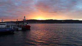 Sonnenuntergang bei Gelibolu stock footage
