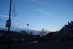 Sonnenuntergang bei Holland Lizenzfreie Stockfotografie