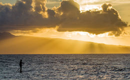 Sonnenuntergang bei Hookipa, Maui Stockfotos