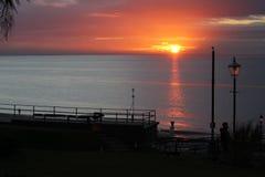 Sonnenuntergang bei Hunstanton Norfolk Stockbilder