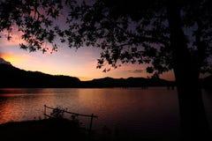 Sonnenuntergang bei königlichem Belum Lizenzfreie Stockbilder
