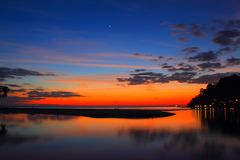 Sonnenuntergang bei Koh Kood, Thailand Lizenzfreies Stockfoto