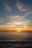 Sonnenuntergang bei Manhattan Beach, Half Moon Bay, Kalifornien Lizenzfreies Stockfoto