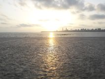 Sonnenuntergang bei Marine Drive | Mumbai_India Lizenzfreie Stockfotos