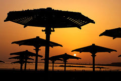 Sonnenuntergang bei Marokko Lizenzfreie Stockbilder
