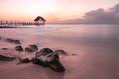Sonnenuntergang bei Mauritius Lizenzfreies Stockfoto