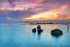 Sonnenuntergang bei Pantara Lizenzfreie Stockbilder