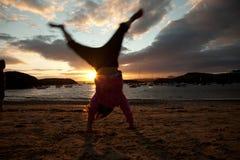 Sonnenuntergang bei Porth Diana lizenzfreies stockfoto