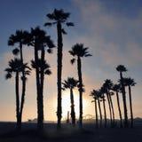 Sonnenuntergang bei Santa Monica Lizenzfreie Stockfotos