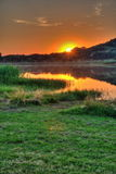 Sonnenuntergang bei Tihany, Ungarn Lizenzfreies Stockfoto