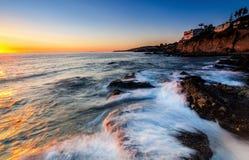 Sonnenuntergang bei Victoria Beach Lizenzfreie Stockfotos
