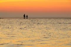Sonnenuntergang bei WestKirby stockbilder
