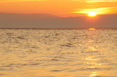 Sonnenuntergang bei WestKirby stockbild