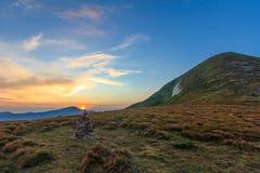Sonnenuntergang beim Goverla Stockbilder