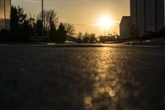 Sonnenuntergang in Belgrad lizenzfreies stockbild