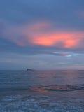 Sonnenuntergang in Benidorm Lizenzfreie Stockfotos