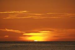 Sonnenuntergang ?ber dem Golf von Mexiko vor Captiva-Insel stockbild