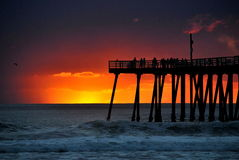 Sonnenuntergang über dem Pazifischen Ozean Lizenzfreies Stockfoto
