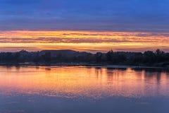 Sonnenuntergang über Weichsel Stockbilder