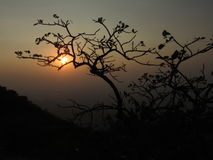 Sonnenuntergang am Berg Abu Lizenzfreies Stockfoto