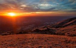 Sonnenuntergang am Berg Diablo Stockbild