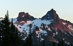 Sonnenuntergang, Berg Rainier National Park Lizenzfreies Stockbild