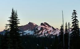 Sonnenuntergang, Berg Rainier National Park Lizenzfreies Stockfoto