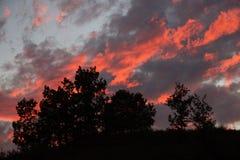 Sonnenuntergang am Berg von Eichen Lizenzfreie Stockbilder