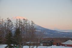 Sonnenuntergang am Berg Yotei Stockbilder
