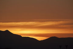 Sonnenuntergang-BIS Lizenzfreie Stockbilder